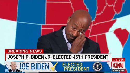 Van Jones' moving reaction to Biden's election win says it all