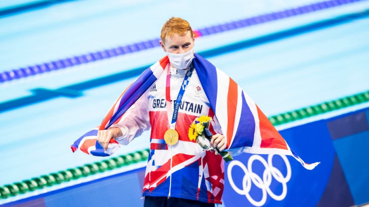 Friends and family react to British swimmer winning at Olympics and it's pure joy