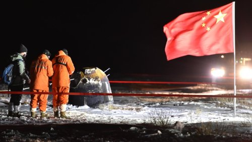 China becomes the third country in the world to successfully bring back rocks from the Moon