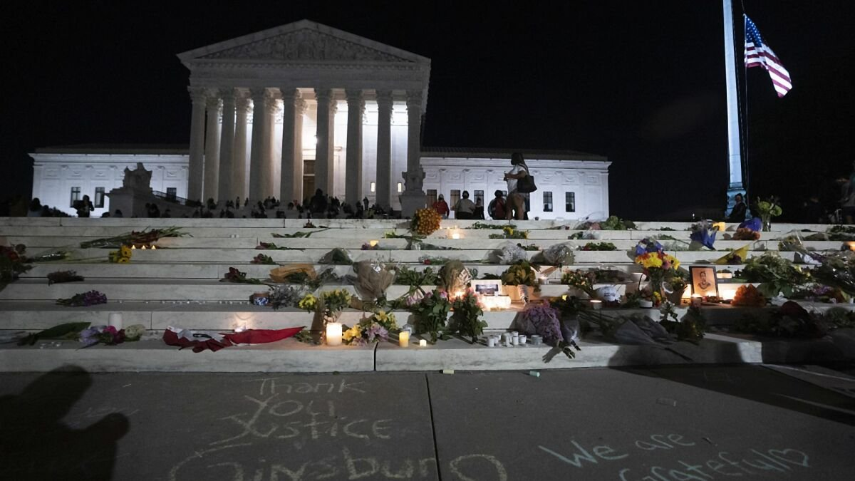 Stirring images from Ruth Bader Ginsburg's D.C. vigil