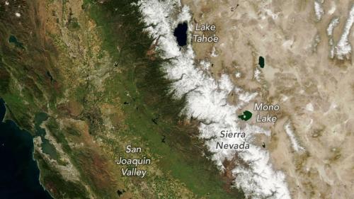 Space photos show intense drying of California mountains