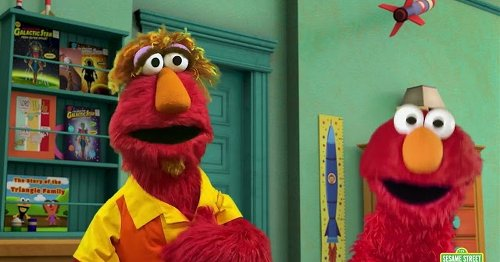 Elmo's reaction to his dad's COVID vaccine is all of us