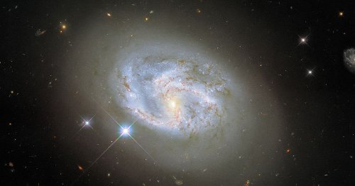 Hubble catches sight of a beautifully swirling galaxy in flux