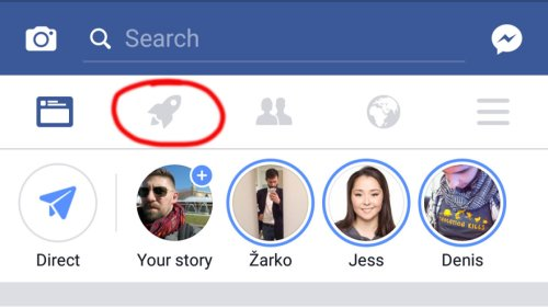 Some Facebook users are seeing a rocket icon in their app. Here's what it does