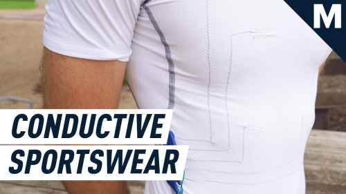 Researchers threaded a conductive shirt that accurately gathers health data