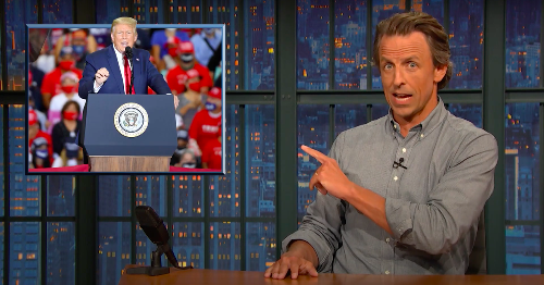 Seth Meyers bluntly blasts Republicans for blaming Trump's failures on Biden