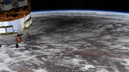NASA Astronaut Shares Gorgeous Image of Moon's Shadow On Earth During 'Ring Of Fire' Solar Eclipse From ISS