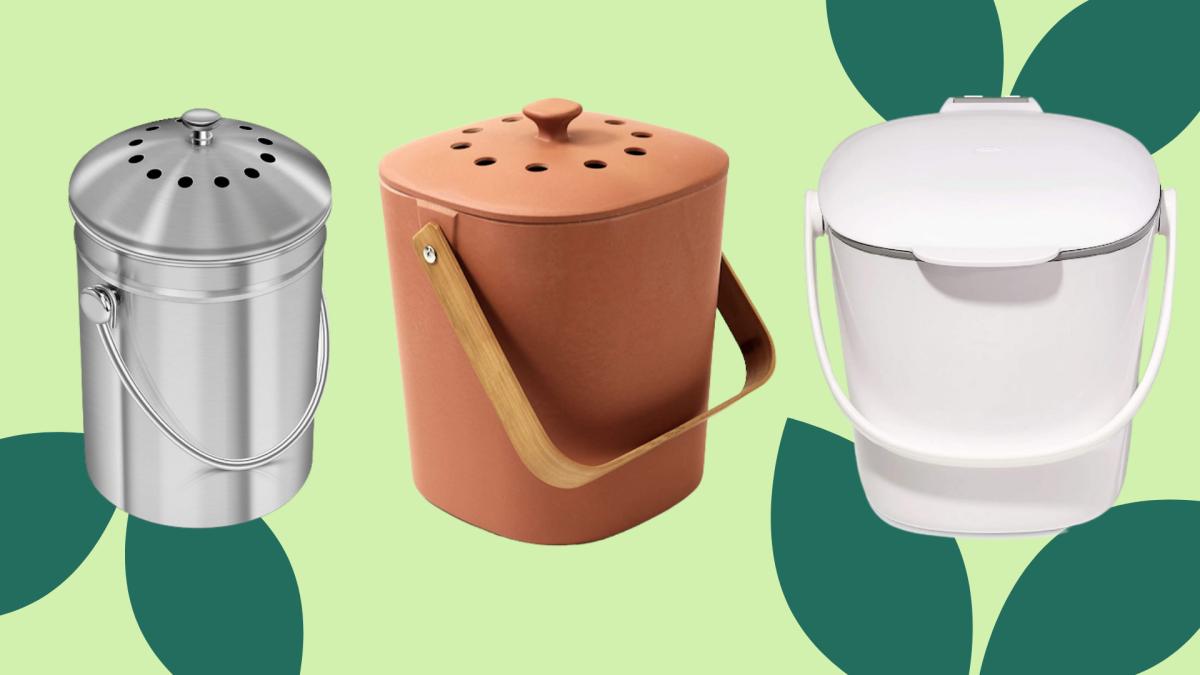The Best Indoor Compost Bins to Eliminate Food Waste + 38 Zero Waste Essentials - cover