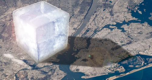 Freakish ice cube shows the scale of Earth's vanishing ice