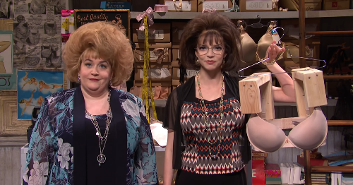 """'SNL' Lingerie Store sketch promises a """"brawr"""" for everyone too busty for a bra"""