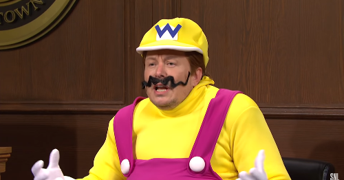 Wario took the stand in a 'Saturday Night Live' courtroom and yup, it was Elon Musk