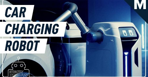 Volkswagen designed an adorable robot that can charge your electric vehicle on its own