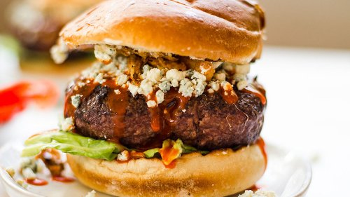 Blue Cheese Burger Recipe With A Saucy Kick That's Bursting With Flavor