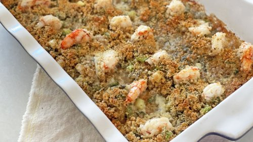 Succulent Baked Stuffed Shrimp Casserole Recipe