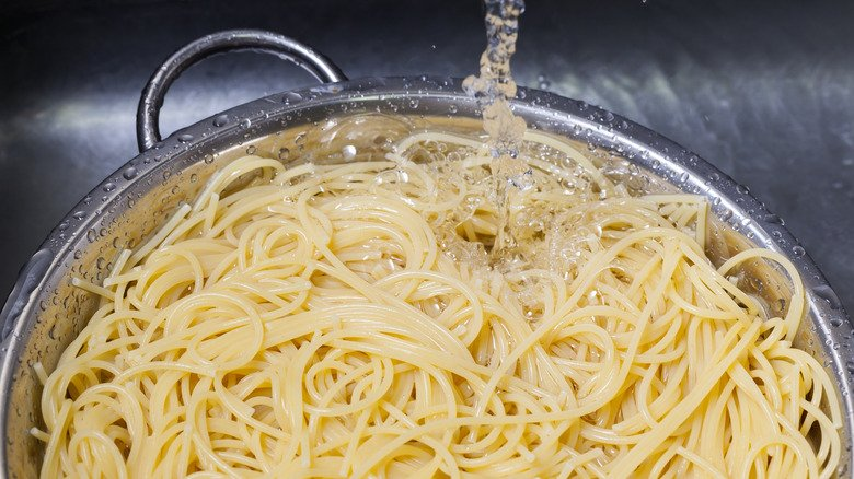 The Real Reason You Should Never Drain Your Pasta In The Sink