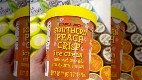Trader Joe's Fans Are Freaking Out Over Its New Southern Peach Crisp Ice Cream
