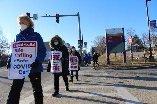 Nurses union projects Saint Vincent Hospital has spent nearly $40 million to prolong strike