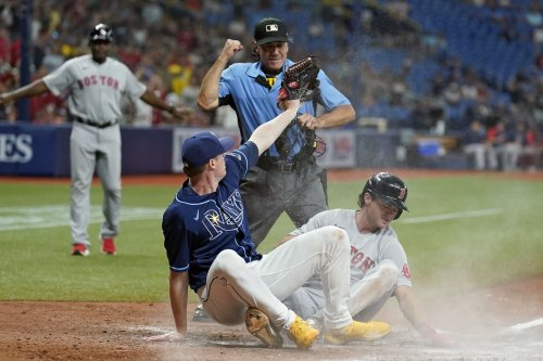 Red Sox use aggressive offensive approach to beat Rays in wacky game: 'We've got a bunch of grinders'