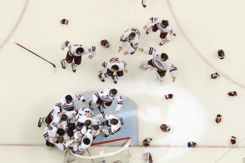 UMass hockey national title a reminder that 'this is a hockey state,' Baker says