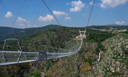The longest pedestrian suspension bridge in the world just opened in Portugal