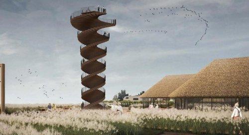 Denmark's new spiraling tower overlooks stunning UNESCO Wadden Sea World