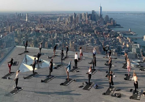 You can do outdoor yoga 1,100 feet in the air on NYC's newest skyscraper