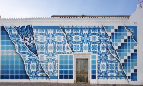 This street artist gives Portugal's tile tradition a playful, vibrant, and modern twist