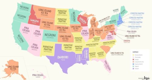 The most popular cocktail in every US state