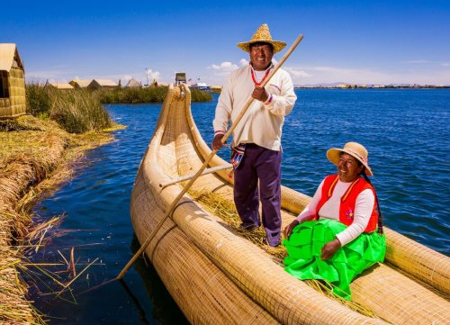 Visiting Lake Titicaca's Uros Islands is a unique way to experience Peruvian indigenous traditions