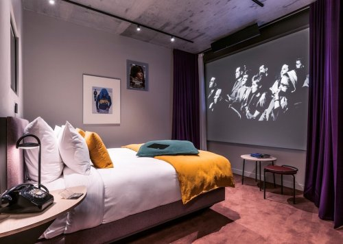 New cinema hotel in Paris lets you enjoy a private screening from bed