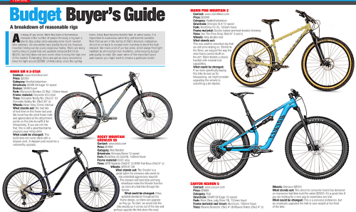 MBA's Budget Bike Buyer's Guide | Mountain Bike Action Magazine