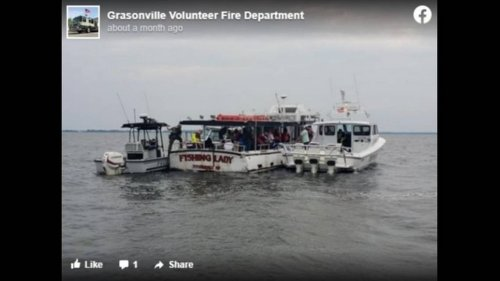 Captain of sinking boat arrested after 34 people rescued in Maryland, Coast Guard says