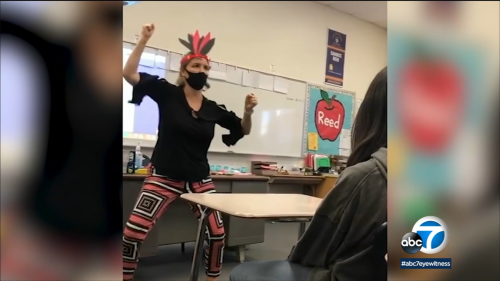 California teacher seen on video mimicking Native American stereotypes is now on leave