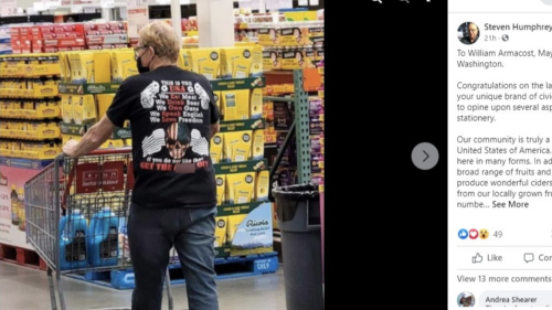 Washington mayor seen in profane shirt at Costco reacts to criticism: 'I had no idea'