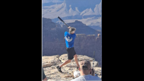 Man taking batting practice at Grand Canyon is now under investigation, officials say