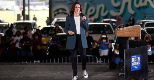 Kamala Harris dances in Florida rain wearing Converse sneakers, Internet feels 'proud to call her future VP'