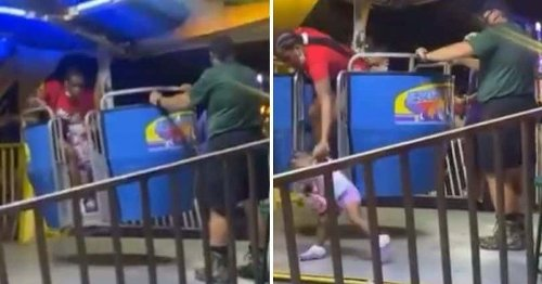 Florida Ferris wheel operator attacks Black mom in shocking video, crowd beats him up