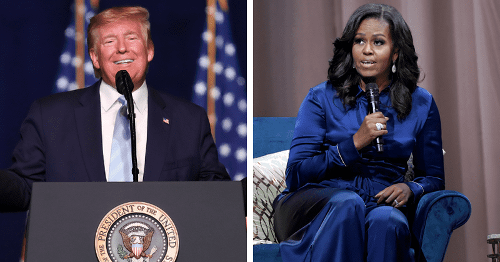 Trump mocks Michelle Obama's looks to get laughs from GOP donors, Internet says 'look in the mirror jacka**'