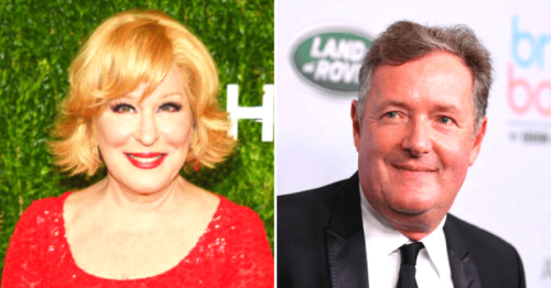 Piers Morgan 'applauds' Bette Midler's zinger after she said 'even viagra can't help a man that soft'