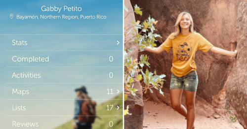 Is Gabby Petito in Puerto Rico? Internet sleuths scan her hiking app to check trail