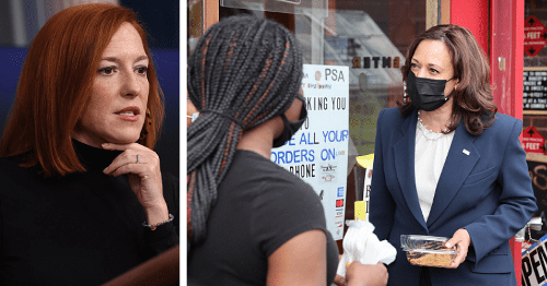Jen Psaki quips Kamala Harris 'got a snack' when asked why VP visited Chicago bakery but not Mexico border