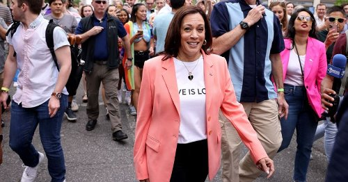 Kamala Harris joins Pride march, Internet says Secret Service 'clearly not happy'