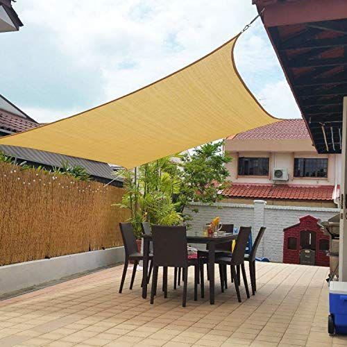 A shade sail that fits most patios