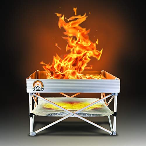 Warm up by a fire anywhere pop-up fire pit from Fireside Outdoor