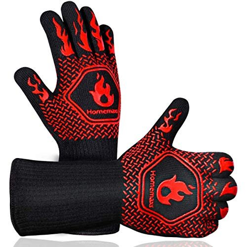 Extreme heat resistant grilling gloves