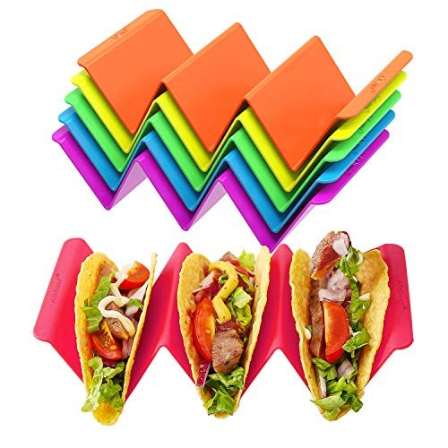 Colorful taco holder stands