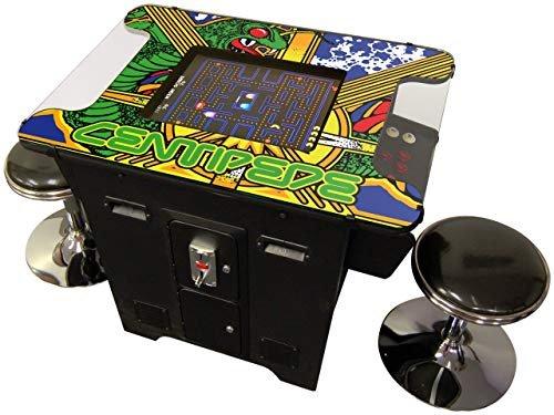 Centipede arcade machine with stools