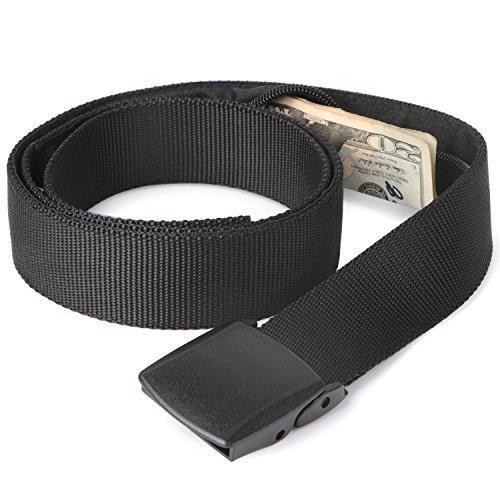 Security money belt with hidden pocket
