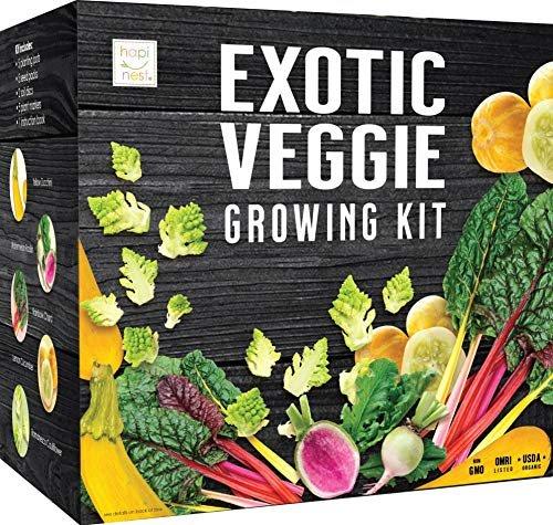 Exotic vegetable seed growing kit