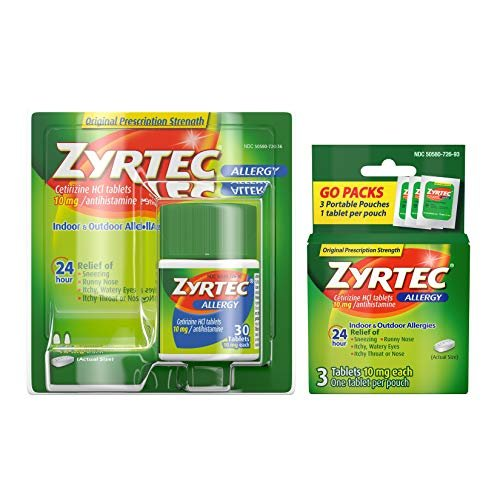 Zyrtec 24 hour relief tablets